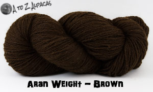 Dark Brown Aran Weight Alpaca Yarn Made in Canada