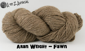 Fawn Aran Weight Alpaca Yarn Made in Canada