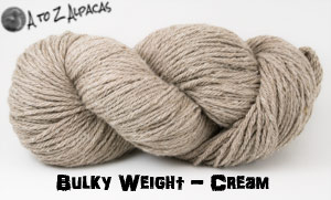 Cream Bulky Weight Alpaca Yarn Made in Canada