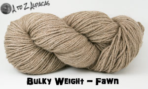 Fawn Bulky Weight Alpaca Yarn Made in Canada