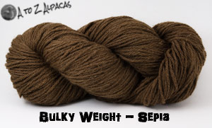 Sepia Bulky Weight Alpaca Yarn Made in Canada