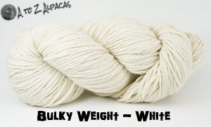 White Bulky Weight Alpaca Yarn Made in Canada