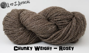 Rosey Chunky Weight Alpaca Yarn Made in Canada