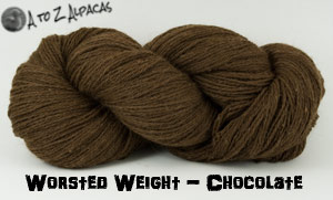 Chocolate Worsted Weight Alpaca Yarn - Made in Canada